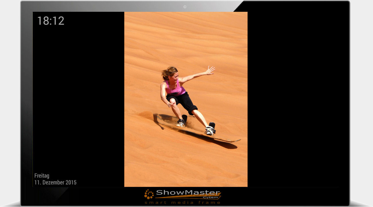 Cytem   Digitale Bilderrahmen   ShowMaster-14 Full-HD ...