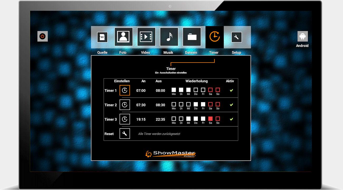cytem digitale bilderrahmen showmaster 18 hd digitalbilderrahmen. Black Bedroom Furniture Sets. Home Design Ideas